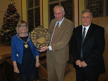 Andrew Wright receiving the CPDC James Attwood Shield