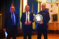 ShieldAward2014 Alan Higgins, Provt. Graham, Stuart Thomas