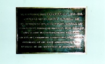 Inverness Cathedral Plaque