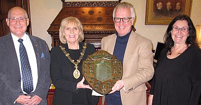 Alan Higgins (CPDC-HI) Provost Helen Carmichael Prof John Cherrie Karen McDonnell (IOSH)